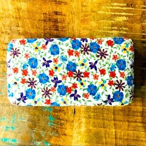 Charming Charlie Wallet - Boho Multicolored Floral